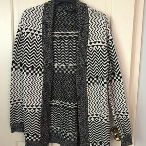 Forever 21 Aztec, long sweater, size M